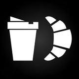 Перерыв на чашку кофе освежения с круассаном Стоковая Фотография RF