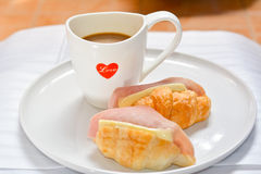 Перерыв на чашку кофе утра Стоковое фото RF