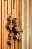 пересекает деревянное стоковое изображение rf