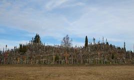 пересекает siauliai Литвы холма Стоковые Фотографии RF