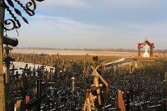 пересекает siauliai Литвы холма Стоковое Изображение RF