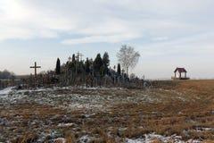 пересекает siauliai Литвы холма Стоковые Фото