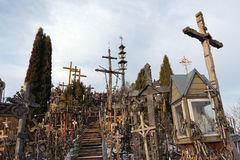 пересекает siauliai Литвы холма Стоковая Фотография