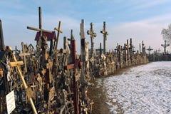 пересекает siauliai Литвы холма Стоковое Изображение