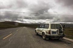 Пересекать Гималаи, Тибет стоковая фотография rf