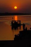 Пересекать на заход солнца Стоковое фото RF