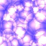 Пересекать светлый - пурпурные круги и шарики иллюстрация штока