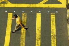 пересекая желтый цвет Стоковые Фотографии RF