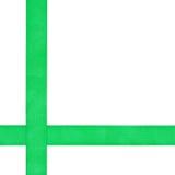 2 пересекая зеленых изолированной ленты сатинировки Стоковое Изображение