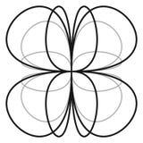 Пересекая линии с симметричной геометрией Абстрактный radial, geome иллюстрация штока