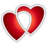 2 пересекая сердца Стоковое фото RF
