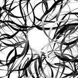 Пересекая случайные squiggly, curvy линии Абстрактный геометрический il Стоковое Изображение