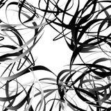 Пересекая случайные squiggly, curvy линии Абстрактный геометрический il иллюстрация вектора