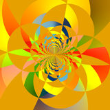 Пересекая фракталь кругов Стоковые Фото