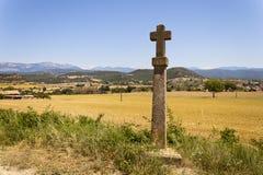 Пересеките в путь Castellvell в Solsona, Лериде, Испании Стоковая Фотография RF