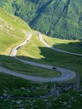 Пересечение дорог Карпатов горы, Румынии Стоковое Изображение