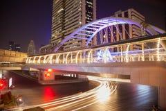 Пересечение дороги Silom Стоковое Изображение