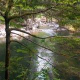 Пересечение 2 потоков стоковое изображение