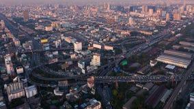Пересечение пути города вида с воздуха срочное Стоковые Изображения