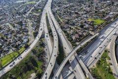 Пересечение скоростного шоссе Лос-Анджелеса Стоковые Изображения RF