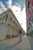 Пересечение улиц в историческом центре Timisoara стоковое фото rf