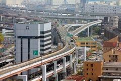 Пересечение дороги в Японии Стоковые Изображения RF