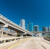 Пересечения дороги около Майами, Флориды Стоковые Фотографии RF