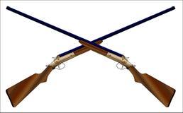 Пересеченные корокоствольные оружия иллюстрация вектора