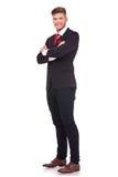 Пересеченные руки бизнесмена Стоковое фото RF