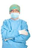 пересеченные руки зреют женщина хирурга Стоковая Фотография RF