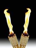 пересеченные факелы tiki Стоковое фото RF