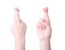 пересеченный знак перстов Стоковое фото RF