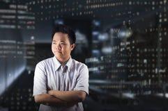 Пересеченный офис ` s бизнесмена подготовляет концепцию Стоковое Фото