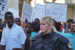 Переселенцы Мюнхен демонстрации Стоковая Фотография