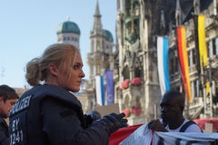 Переселенцы Мюнхен демонстрации Стоковые Изображения