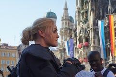 Переселенцы Мюнхен демонстрации Стоковое Изображение