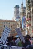 Переселенцы Мюнхен демонстрации Стоковое фото RF