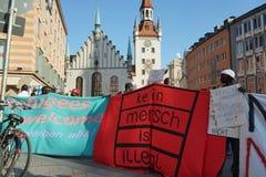 Переселенцы Мюнхен демонстрации Стоковые Фото