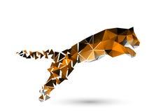 Перескакивать тигр от полигонов иллюстрация штока