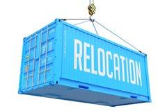 Перестановка - голубой грузовой контейнер смертной казни через повешение стоковая фотография rf