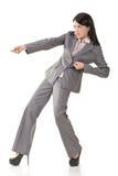Перетягивание каната женщины Стоковое фото RF