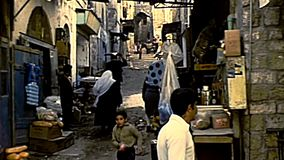 Переулки города Иерусалима старые сток-видео