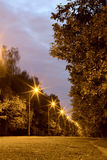 Переулок вечера стоковые изображения rf