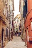 Переулок в Хорватии Стоковые Изображения RF