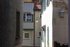 переулок в южном wangen города Германии стоковые фото