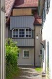 переулок в южном wangen города Германии стоковые изображения