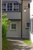 переулок в южном wangen города Германии стоковое изображение rf