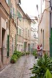 переулок среднеземноморской Стоковое Изображение