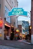 Переулок столба в Сиэтл Вашингтоне Стоковые Изображения
