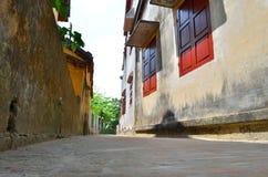 переулок 8 hoian немногая Стоковые Изображения RF